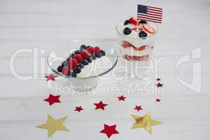 Fruit ice cream with 4th july theme