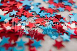 Star shape decoration with 4th july theme