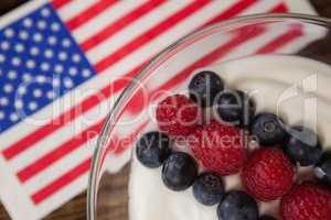 Close-up of fruit ice cream