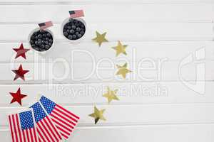 Black berries decorated with 4th july theme