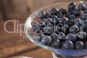 Fresh blueberry in bowl
