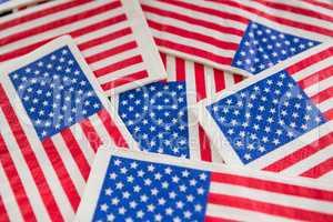 Full frame of American flags