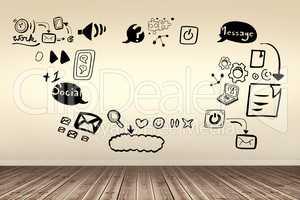 Composite image of composite image of social media symbols