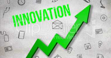 Composite image of digitally generated image of innovation text