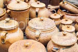 Handmade traditional clay pots
