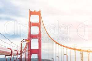 golden gate bridge pillar