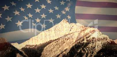 Composite image of united states of america flag