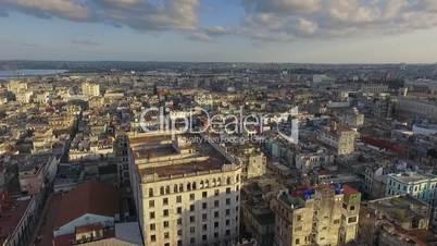 Aerial View Urban Landscape Old Havana Cuba Drone Flying
