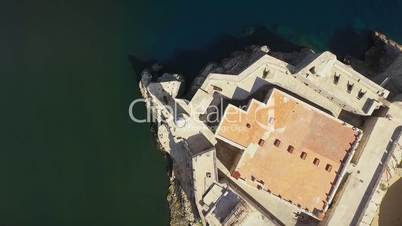 Aerial View Monument Castle Caribbean Sea Cuba With Drone