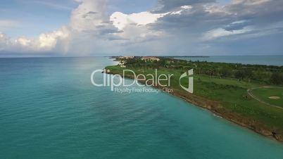 Aerial View Varadero Cuba Caribbean Sea Cuban Beaches Holidays