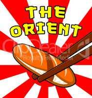 The Orient Shows Japan Cuisine 3d Illustration