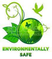 Environmentally Safe Shows Eco Friendly 3d Illustration