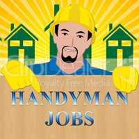 Handyman Jobs Showing House Repair 3d Illustration