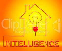 Intelligence Light Represents Intellectual Capacity And Acumen