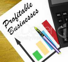 Profitable Businesses Meaning Trade Success 3d Illustration