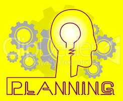 Planning Cogs Represents Goals Objectives And Aspirations