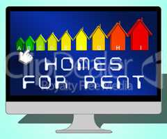 Homes For Rent Representing Real Estate 3d Illustration