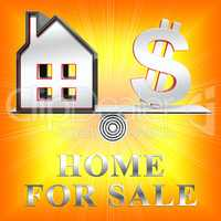 Home For Sale Meaning Sell Property 3d Rendering