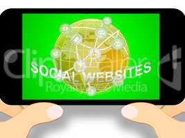 Social Websites Meaning Online Forums 3d Illustration