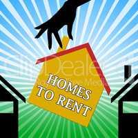 Homes To Rent Means Real Estate 3d Illustration