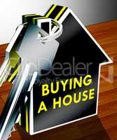 Buying A House Shows Real Estate 3d Rendering