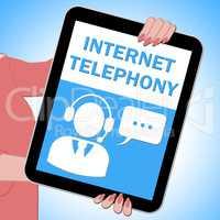 Internet Telephony Tablet Voice Broadband 3d Illustration