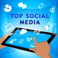 Top Social Media Means Best Forums 3d Illustration