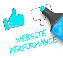 Website Performance Displaying Quality Report 3d Illustration