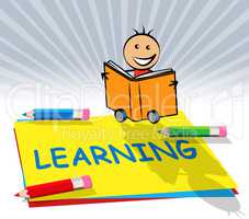 Learning Train Displays Training And Academic 3d Illustration