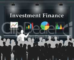 Investment Finance Means Shares Investing 3d Illustration