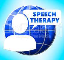 Speech Therapy Icon Meaning Rehabilitation 3d Illustration