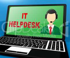 IT Helpdesk Showing Information Technology 3d Illustration