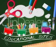 Educational Sites Picture Shows Learning Sites 3d Illustration