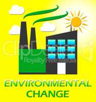 Environmental Change Represents Ecology Effect 3d Illustration