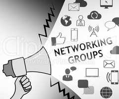 Networking Groups Representing Global Communications 3d Illustra