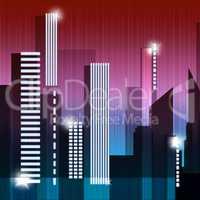 Skyscraper Buildings Shows Building Cityscape 3d Illustration
