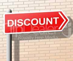 Discount Sign Shows Sale Promo 3d Illustration