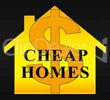 Cheap Homes Showing Real Estate 3d Illustration