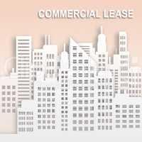Commercial Lease Represents Office Property Buildings 3d Illustr