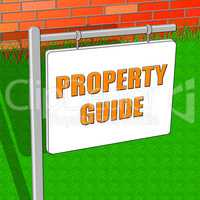 Property Guide Shows Real Estate 3d Illustration