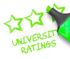 University Ratings Means Performance Report 3d Illustration