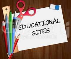 Educational Sites Paper Shows Learning Sites 3d Illustration
