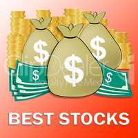 Best Stocks Meaning Top Shares 3d Illustration