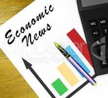 Economic News Means Finance Media 3d Illustration