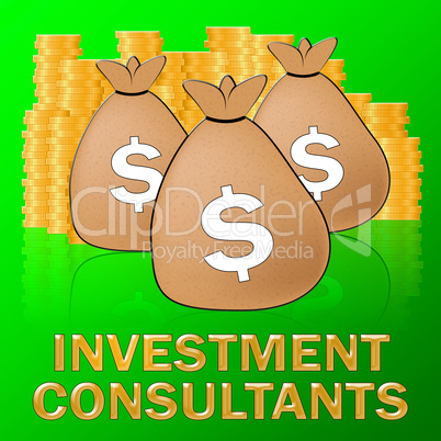 Investment Consultants Shows Investing Specialist 3d Illustratio