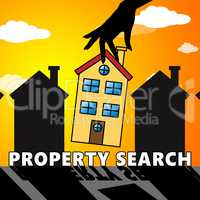 Property Search Showing Find Property 3d Illustration