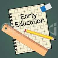 Early Education Represents Kids School 3d Illustration