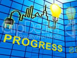 Progress Symbol Shows Betterment Headway 3d Illustration