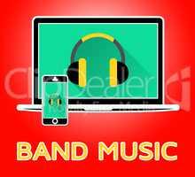 Band Music Representing Sound Tracks 3d Illustration