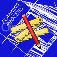 Planning Process Meaning Plan Method 3d Illustration